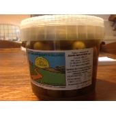 Olive verdi schiacciate in salamoia - 500 Gr.