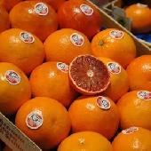 Orange rouge de l'IGP sicilienne � manger