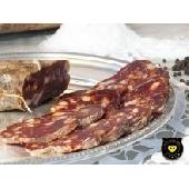 Soppressata rouge douce de porc noir de Calabre