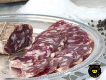 Soppressata blanche de porc noir de Calabria