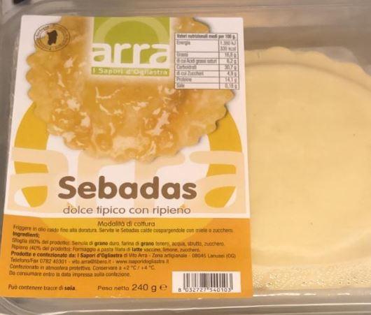 Seadas sucr�es typiques sardes fourr�es - I Sapori d'Ogliastra