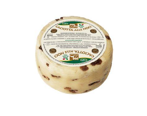 Caciotta lait m�lang� Vache et mouton aux noix Valmetauro - Formaggi Tre Valli