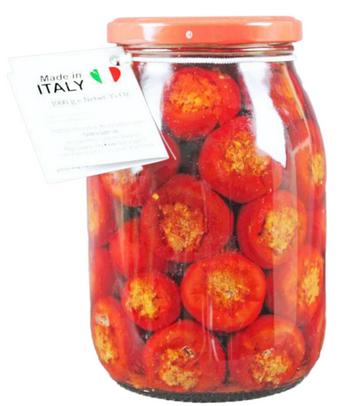 Peperoncini ripieni alla 'nduja in olio di semi - Calabria Sapori