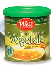 Bouillon  granulaire V�G�TAL BIO sans glutamate,  maigre, compl�tement v�g�tal et  riche en extraits de levures et de jus de carotte dans un petit bidon lithographi� refermable