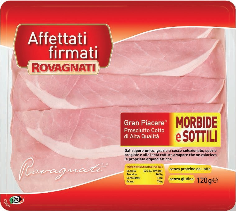 Jambon Cuit sans polyphosphates ajoutés Rovagnati