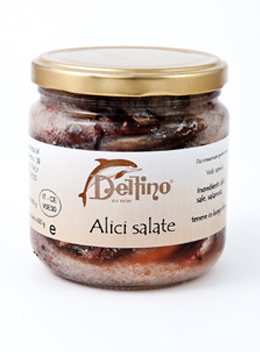 Anchois de Cetara sal�s - Delfino