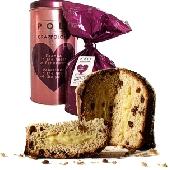 Panettone Grappolone avec les raisins secs et la crème d'eau de vie de Moscato Poli