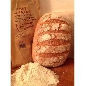 Pain Biologique avec la farine d'�peautre cuit � bois