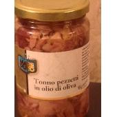 Thon en morceaux  dans l'huile d'olive
