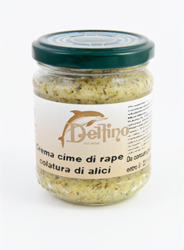 Crème de brocoli avec Coulage d'Anchois de Cetara - Delfino Battista