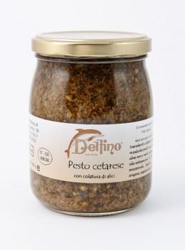 Pesto de Cetara avec le coulage d'anchois