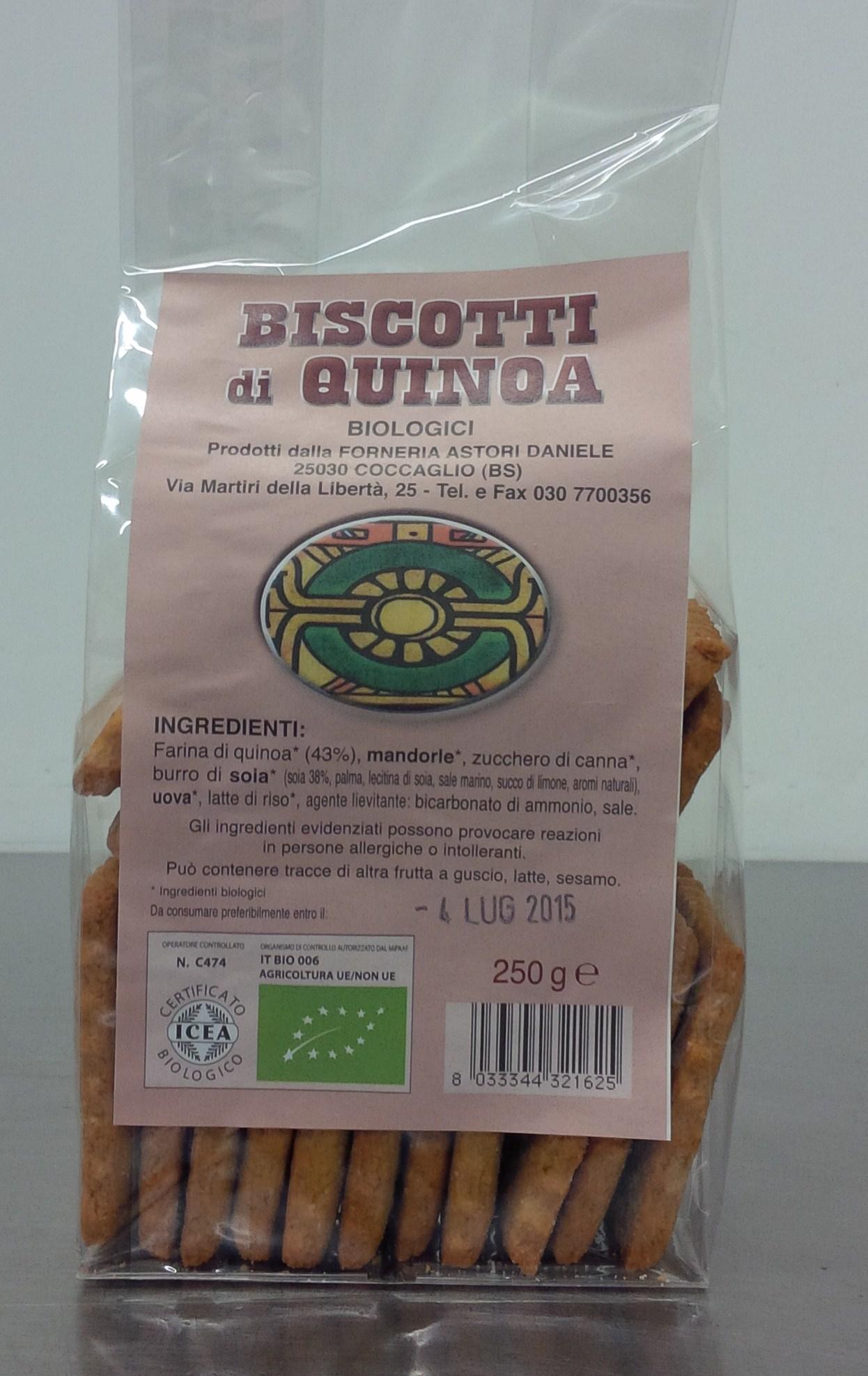 Artisan biscuits organiques avec de la farine de Quinoa - Forno Astori