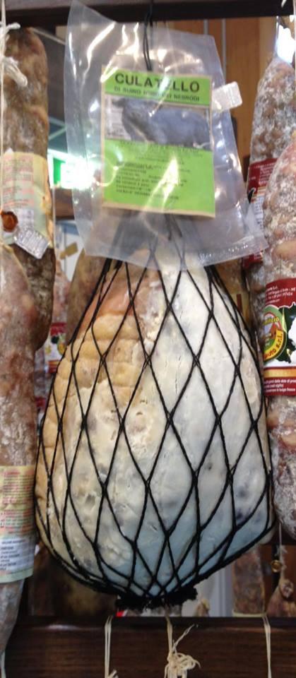 Culatello de porc noir des Nebrodi