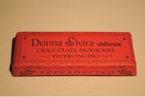 Chocolat de Modica, piment saveur 100 g comprim� - Donna Elvira