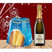 CHRISTMAS GREETINGS PACK Pandoro Melegatti - 1 kg.  Franciacorta DOCG Brut Il Mosnel - 1 bottiglia