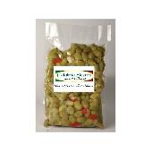 Olives vertes concass�es avec Calabrese - Calabria Scerra