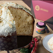 Oro Bianco - Artisanal baked cake with almond cream - Fiasconaro