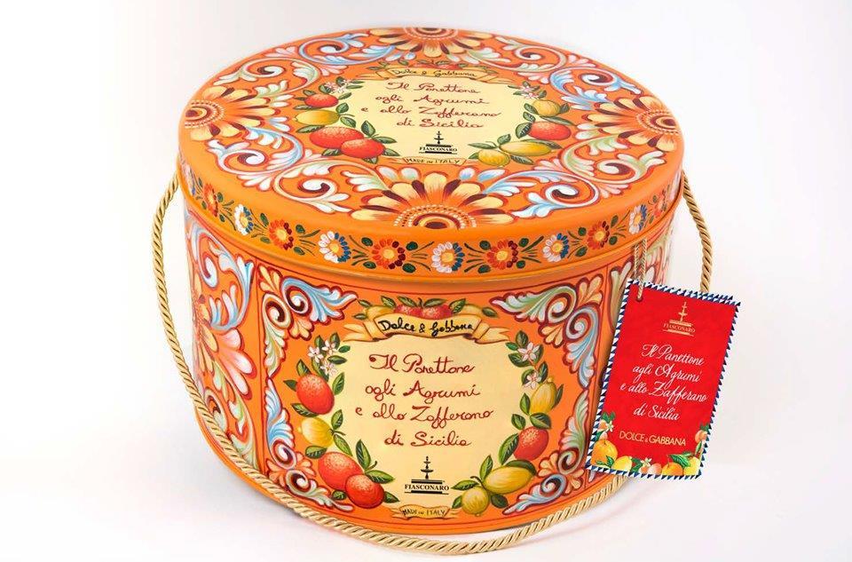 Panettone agrumi e Zafferano Fiasconaro Cappelliera Dolce & Gabbana
