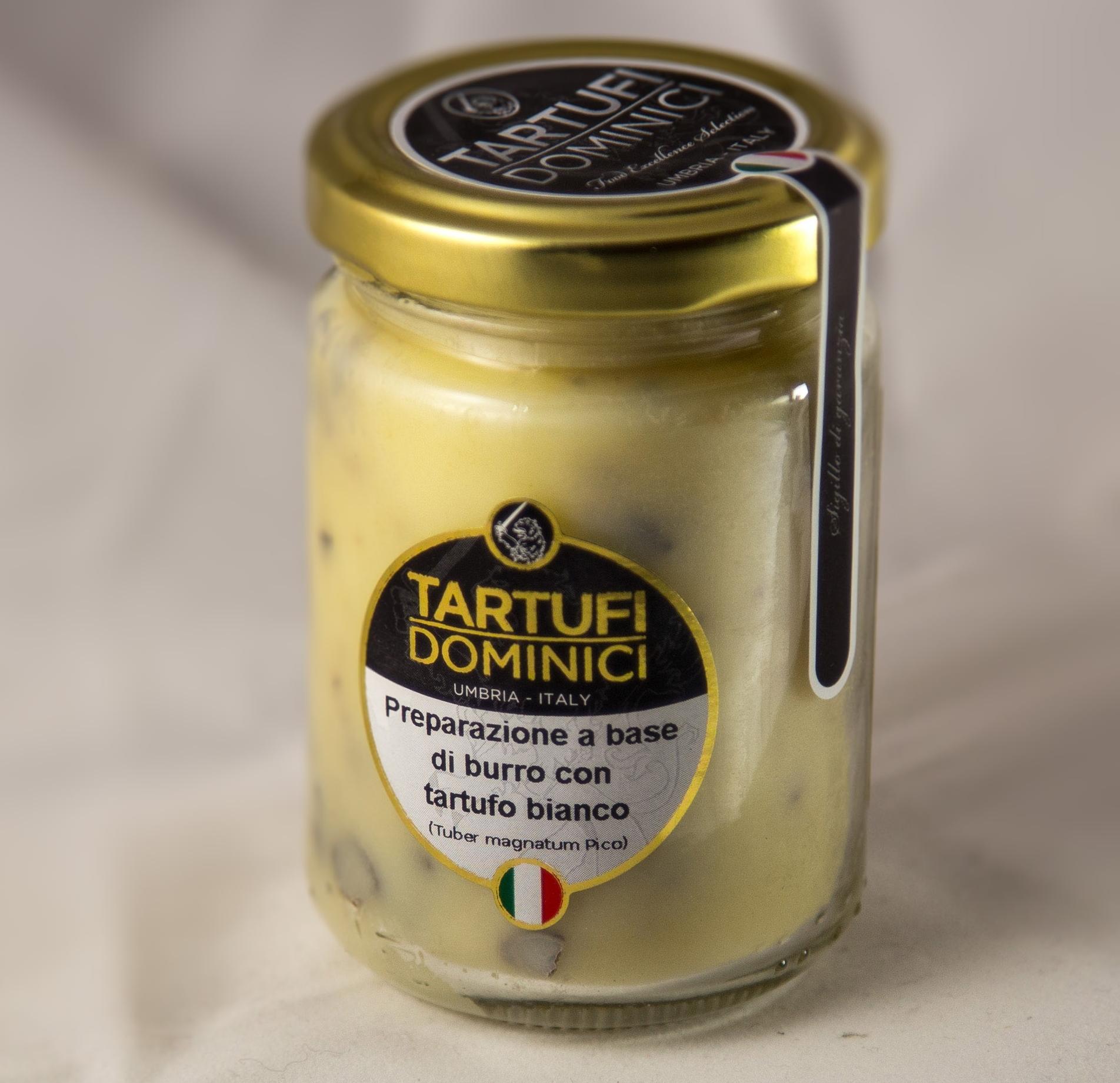 Pr�paration � base de beurre � la truffe blanche - Tartufi Dominici